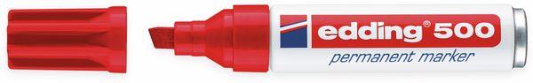 Permanent-Marker, EDDING, e-500, rot - Produktbild 2