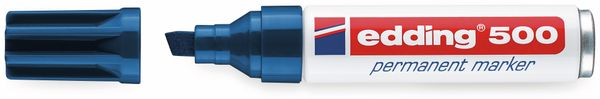 Permanent-Marker, EDDING, e-500, blau