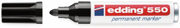 Permanent-Marker, EDDING, e-550, schwarz - Produktbild 2