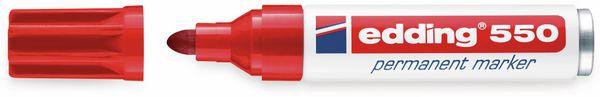 Permanent-Marker, EDDING, e-550, rot - Produktbild 2