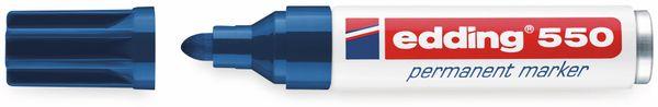 Permanent-Marker, EDDING, e-550, blau - Produktbild 2