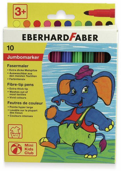 Jumbomarker, auswaschbar, 10 Farben, Eberhard Faber 551210 - Produktbild 5