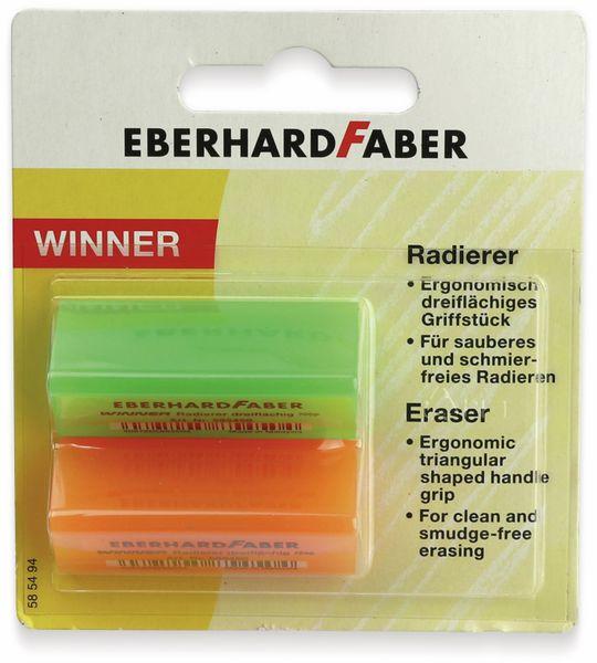 Radierer Winner neonfarben, 2 Stück, Eberhard Faber 585494 - Produktbild 4