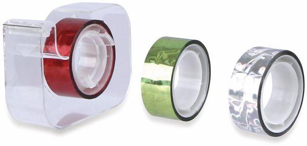 Metallic-Klebeband 4er-Pack, 3x Klebeband 5mx15mm, 1x Abroller