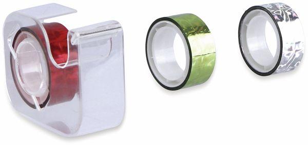 Metallic-Klebeband 4er-Pack, 3x Klebeband 5mx15mm, 1x Abroller - Produktbild 2