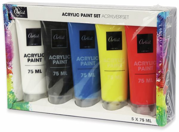 Acrylfarben, 5x 75 ml - Produktbild 2