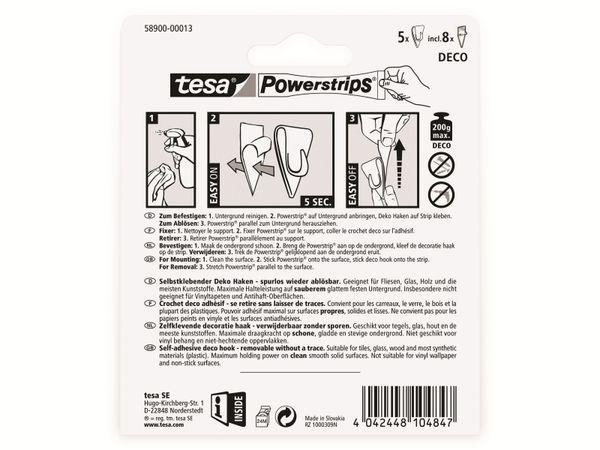tesa Powerstrips® transparent, Deco-Haken , 58900-00013-20 - Produktbild 5