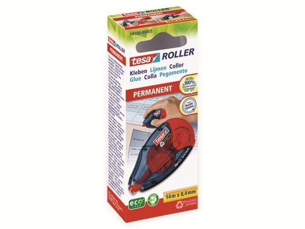 tesa® Roller Kleben permanent ecoLogo®, Nachfüllroller, 14m:8,4mm, 59100-00005-06 - Produktbild 2