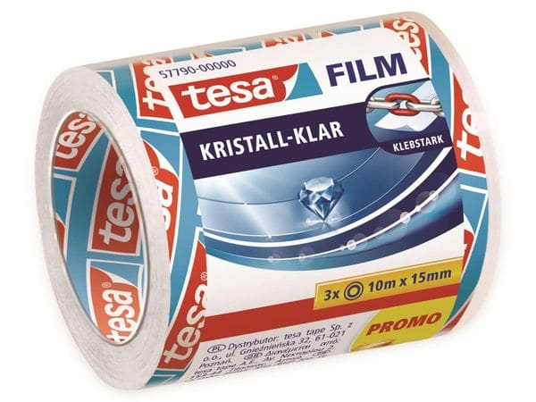 tesafilm® kristall-klar, 3 Rollen, 10m:15mm, 57790-00000-01