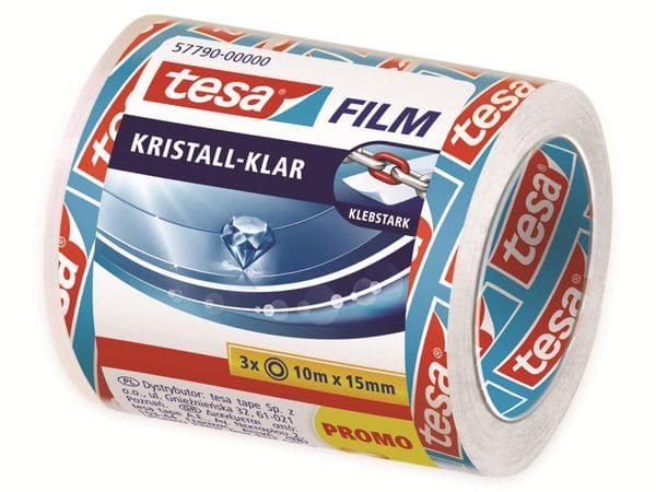 tesafilm® kristall-klar, 3 Rollen, 10m:15mm, 57790-00000-01 - Produktbild 2