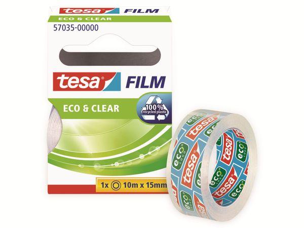 tesafilm® eco&clear, 1 Rolle, 10m:15mm, 57035-00000-01 - Produktbild 4