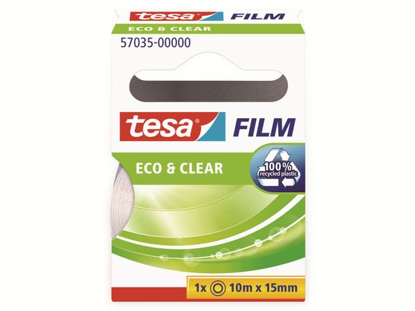 tesafilm® eco&clear, 1 Rolle, 10m:15mm, 57035-00000-01 - Produktbild 5