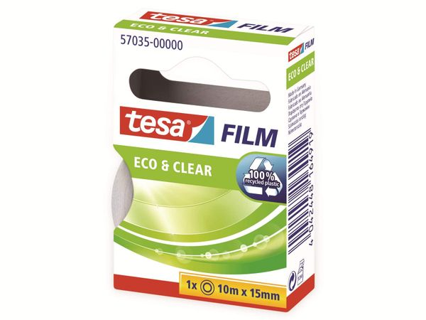 tesafilm® eco&clear, 1 Rolle, 10m:15mm, 57035-00000-01 - Produktbild 7