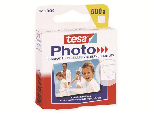 tesa Photo® Klebepads, 500 Stück, Big Pack, 56611-00000-00