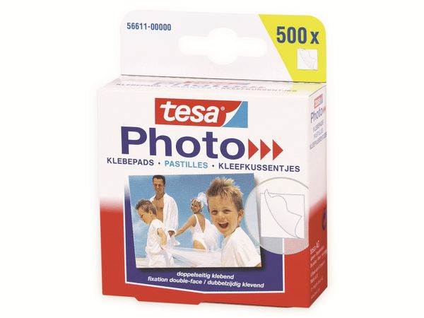 tesa Photo® Klebepads, 500 Stück, Big Pack, 56611-00000-00 - Produktbild 2