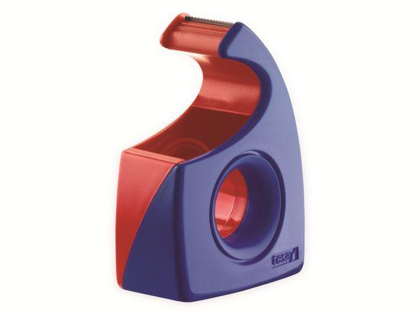 tesa® Easy Cut Handabroller 10:19 rot-blau, leer, bis 10m:19mm, 57443-00001-01 - Produktbild 2