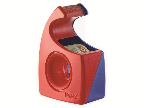 tesa® Easy Cut Handabroller 10:19 rot-blau, leer, bis 10m:19mm, 57443-00001-01 - Produktbild 3