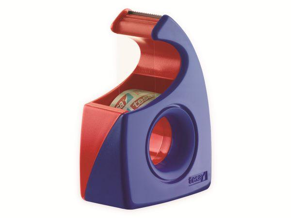 tesa® Easy Cut Handabroller 10:19 rot-blau, leer, bis 10m:19mm, 57443-00001-01 - Produktbild 4
