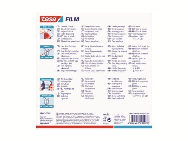 tesa® Easy Cut Handabroller 10:19 rot-blau, leer, bis 10m:19mm, 57443-00001-01 - Produktbild 8