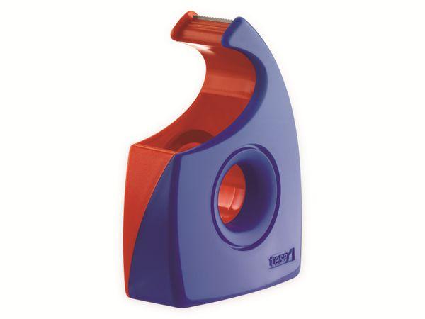 tesa® Easy Cut Handabroller 33:19 rot-blau, leer, bis 33m:19mm, 57444-00001-01 - Produktbild 2