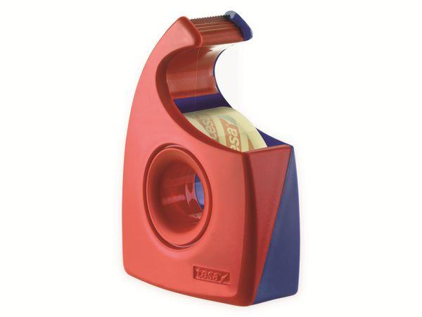 tesa® Easy Cut Handabroller 33:19 rot-blau, leer, bis 33m:19mm, 57444-00001-01 - Produktbild 3