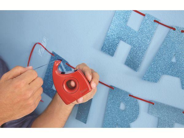 tesa® Easy Cut Handabroller 33:19 rot-blau, leer, bis 33m:19mm, 57444-00001-01 - Produktbild 5