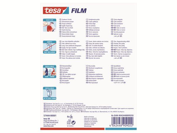 tesa® Easy Cut Handabroller 33:19 rot-blau, leer, bis 33m:19mm, 57444-00001-01 - Produktbild 7