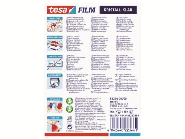 tesafilm® Mini Abroller in 4 Farben + tesafilm® kristall-klar, 10m:19mm, 58230-00000-02 - Produktbild 3