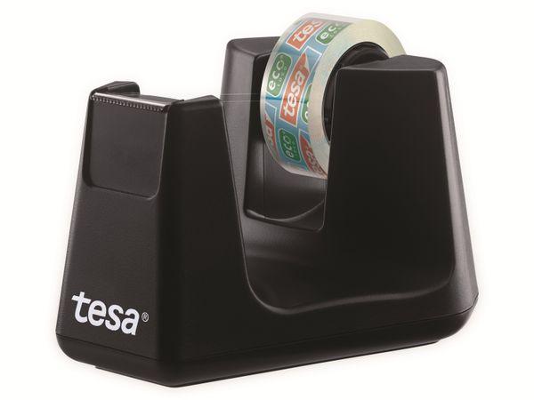 tesafilm® Tischabroller Smart + tesafilm® eco&clear, 1 Rolle , 10m:15mm, 53904-00000-01 - Produktbild 2