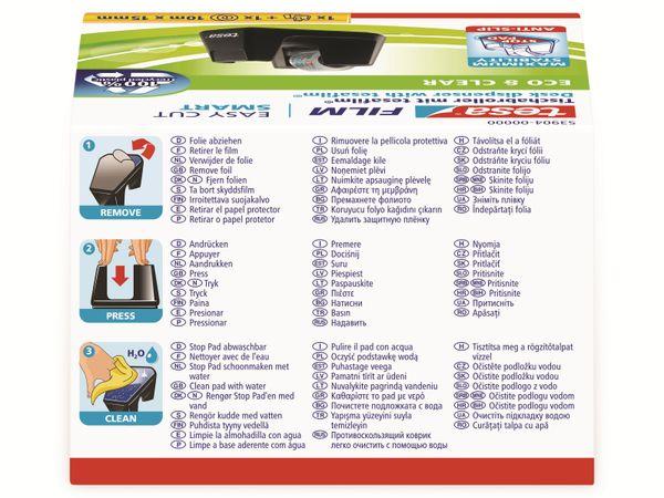 tesafilm® Tischabroller Smart + tesafilm® eco&clear, 1 Rolle , 10m:15mm, 53904-00000-01 - Produktbild 4