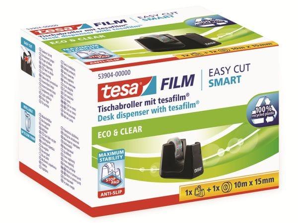 tesafilm® Tischabroller Smart + tesafilm® eco&clear, 1 Rolle , 10m:15mm, 53904-00000-01 - Produktbild 6