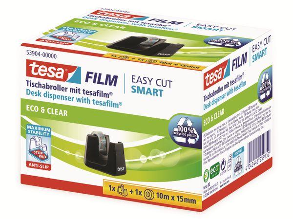 tesafilm® Tischabroller Smart + tesafilm® eco&clear, 1 Rolle , 10m:15mm, 53904-00000-01 - Produktbild 7