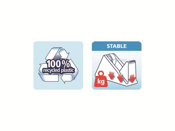 tesafilm® Sparpack Abroller + tesafilm® eco&clear, 1 Rolle , 10m:15mm, 59327-00000-02 - Produktbild 9