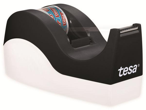 tesafilm® Tischabroller Orca + tesafilm® kristall-klar, 1 Rolle , 10m:19mm, 53914-00000-00