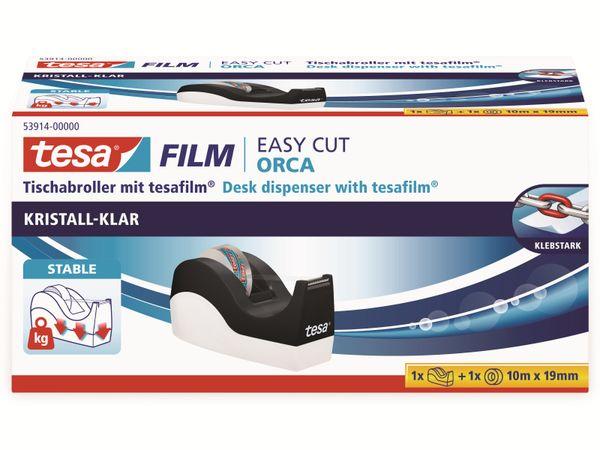 tesafilm® Tischabroller Orca + tesafilm® kristall-klar, 1 Rolle , 10m:19mm, 53914-00000-00 - Produktbild 5
