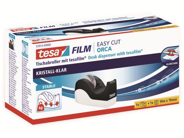 tesafilm® Tischabroller Orca + tesafilm® kristall-klar, 1 Rolle , 10m:19mm, 53914-00000-00 - Produktbild 6