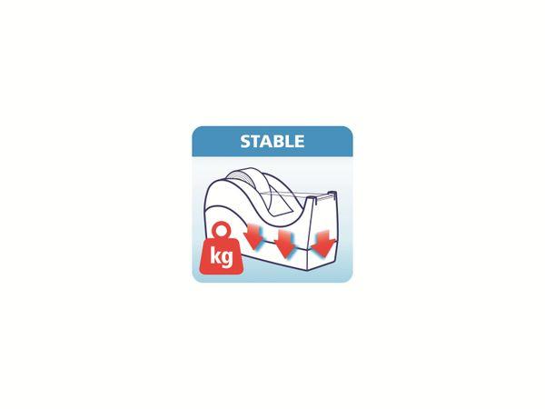 tesafilm® Tischabroller Orca + tesafilm® kristall-klar, 1 Rolle , 10m:19mm, 53914-00000-00 - Produktbild 8