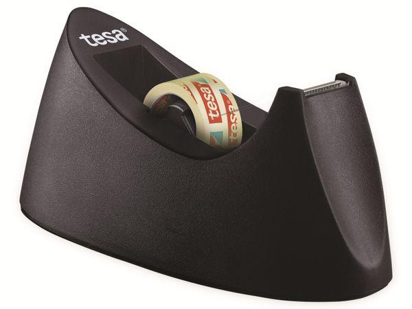tesafilm® Tischabroller Curve + tesafilm® transparent, 1 Rolle , 10m:19mm, 53917-00000-00