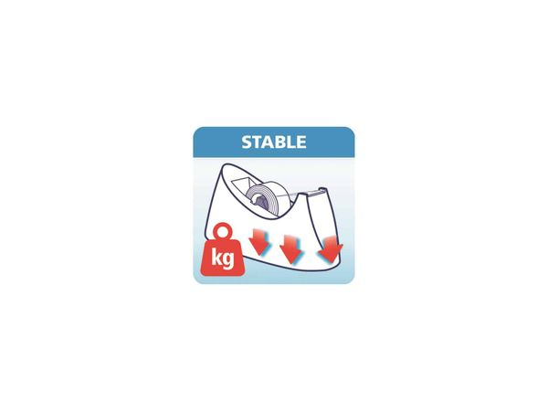 tesafilm® Tischabroller Curve + tesafilm® transparent, 1 Rolle , 10m:19mm, 53917-00000-00 - Produktbild 8