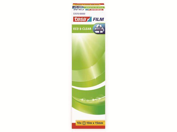 tesafilm® eco&clear, 10 Rollen, Office Box, 10m:15mm, 57070-00000-01 - Produktbild 4