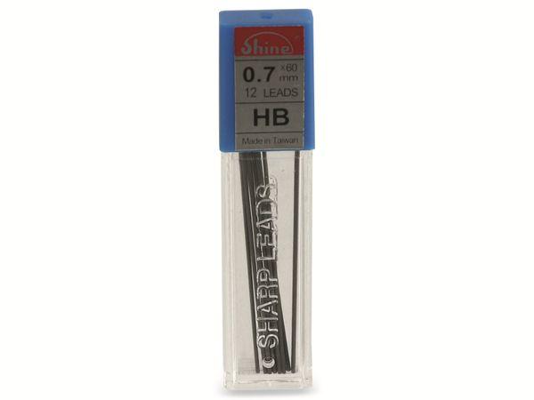 Druckbleistift-Mine, Shine, HB, 0,7 mm, 12 Stück