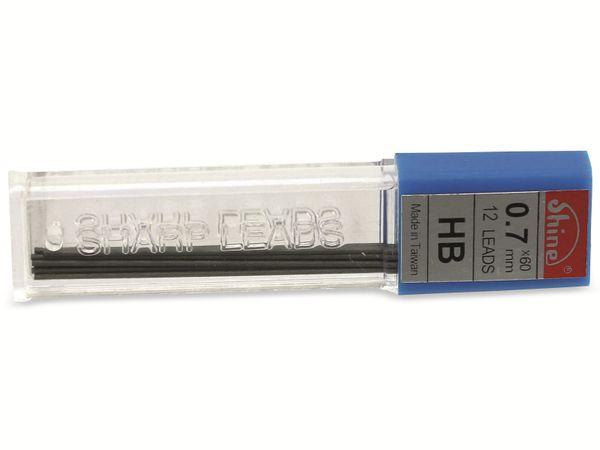 Druckbleistift-Mine, Shine, HB, 0,7 mm, 12 Stück - Produktbild 2