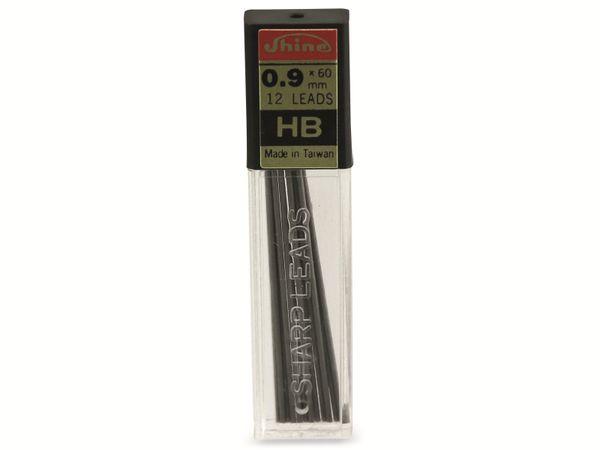 Druckbleistift-Mine, Shine, HB, 0,9 mm, 12 Stück
