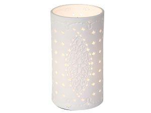 Porzellanlampe, weiß