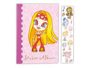 """Sticker und Album """"Girlie"""""""