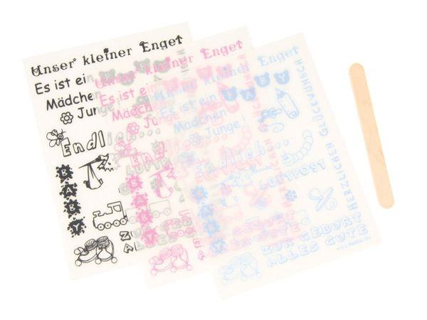 Rubbelinge GEBURT, schwarz/rosa/hellblau - Produktbild 1