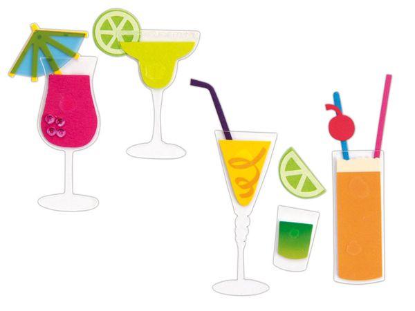 Deko-Sticker HEYDA 203780619, Cocktails