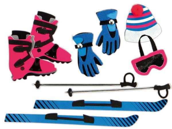 Deko-Sticker HEYDA 203780670, Skiurlaub