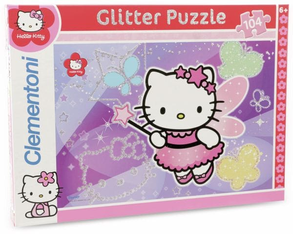Clementoni-Puzzle Hello Kitty Glitter and Jewels, 104-Teile-Set - Produktbild 1