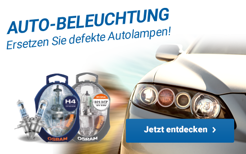 Auto-Beleuchtung - Ersetzen Sie defekte Autolampen!